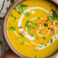 Spiced Coconut Summer Squash Soup | @naturallyella