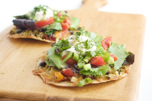Roasted Vegetable Tostada | Naturally Ella