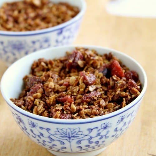 strawberry hemp granola
