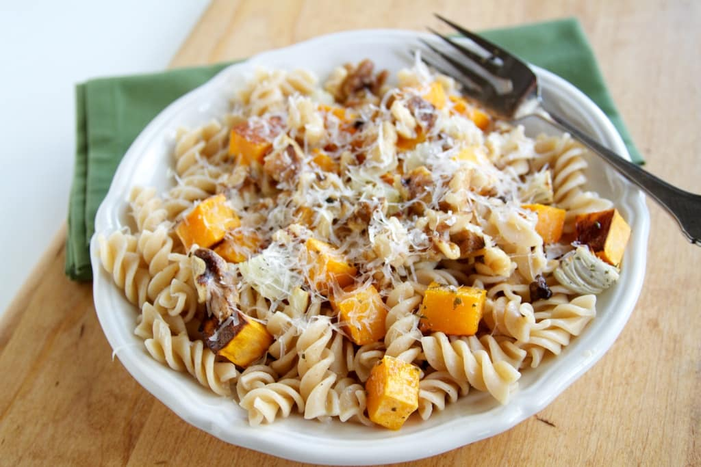 Butternut Squash, Parmesan, and Pasta | Naturally Ella