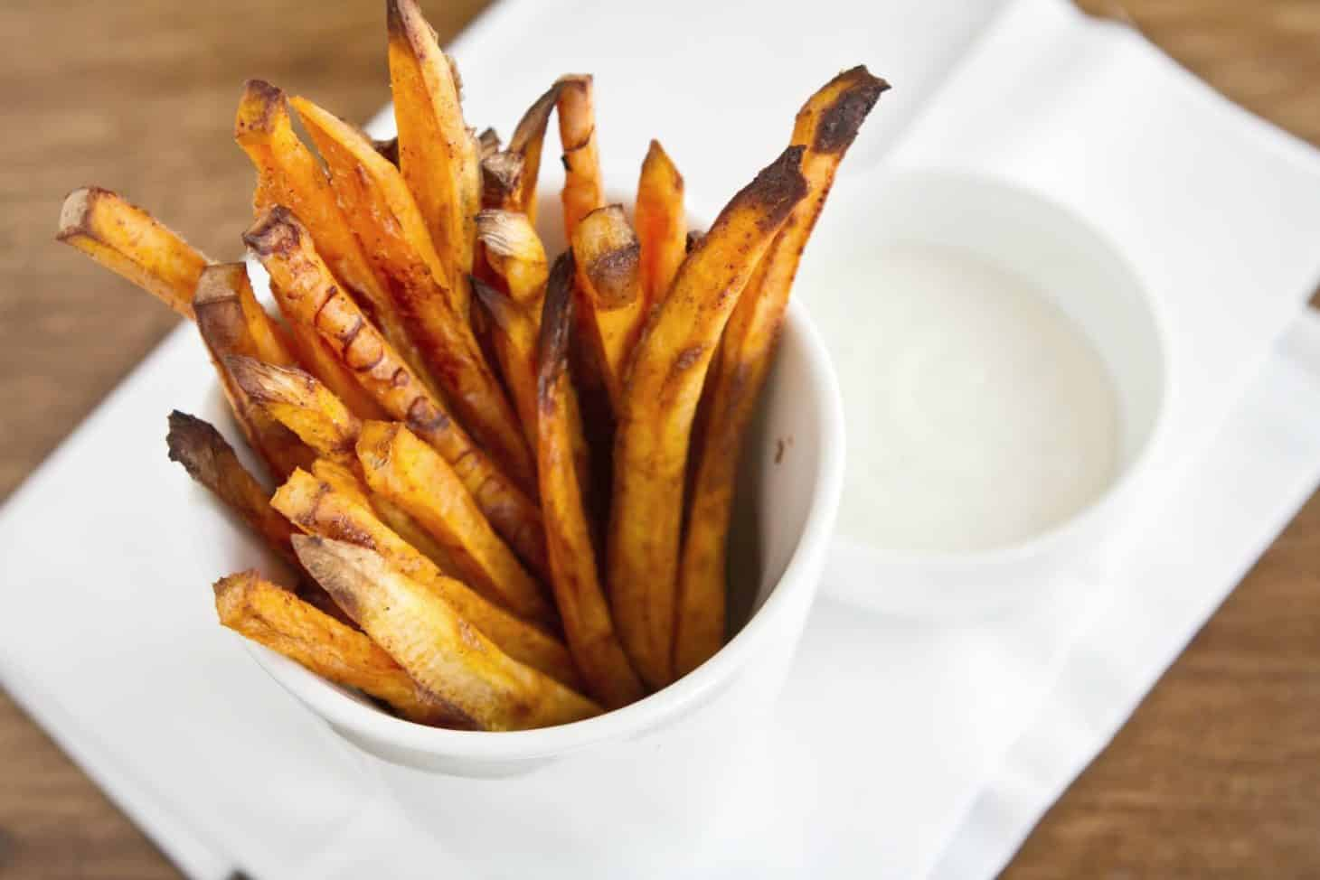 Baked Chipotle Sweet Potato Fries Recipe — Dishmaps