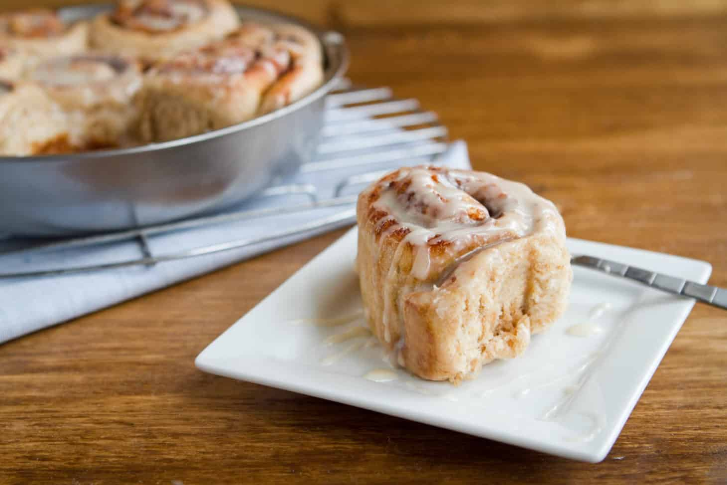 Whole Wheat (vegan) Cinnamon Rolls
