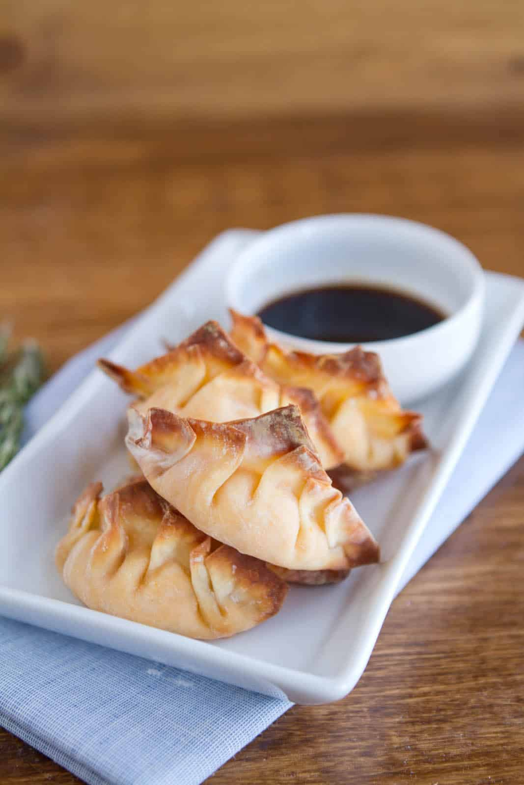 Baked Sweet Potato Potstickers | Naturally Ella