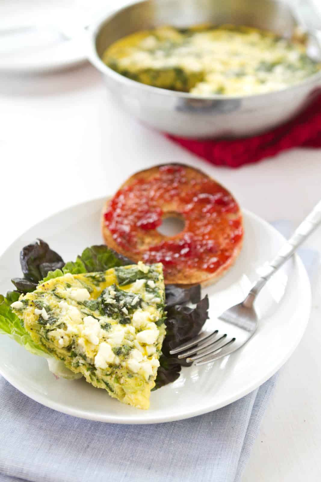 Swiss Chard and Feta Frittata | Naturally Ella