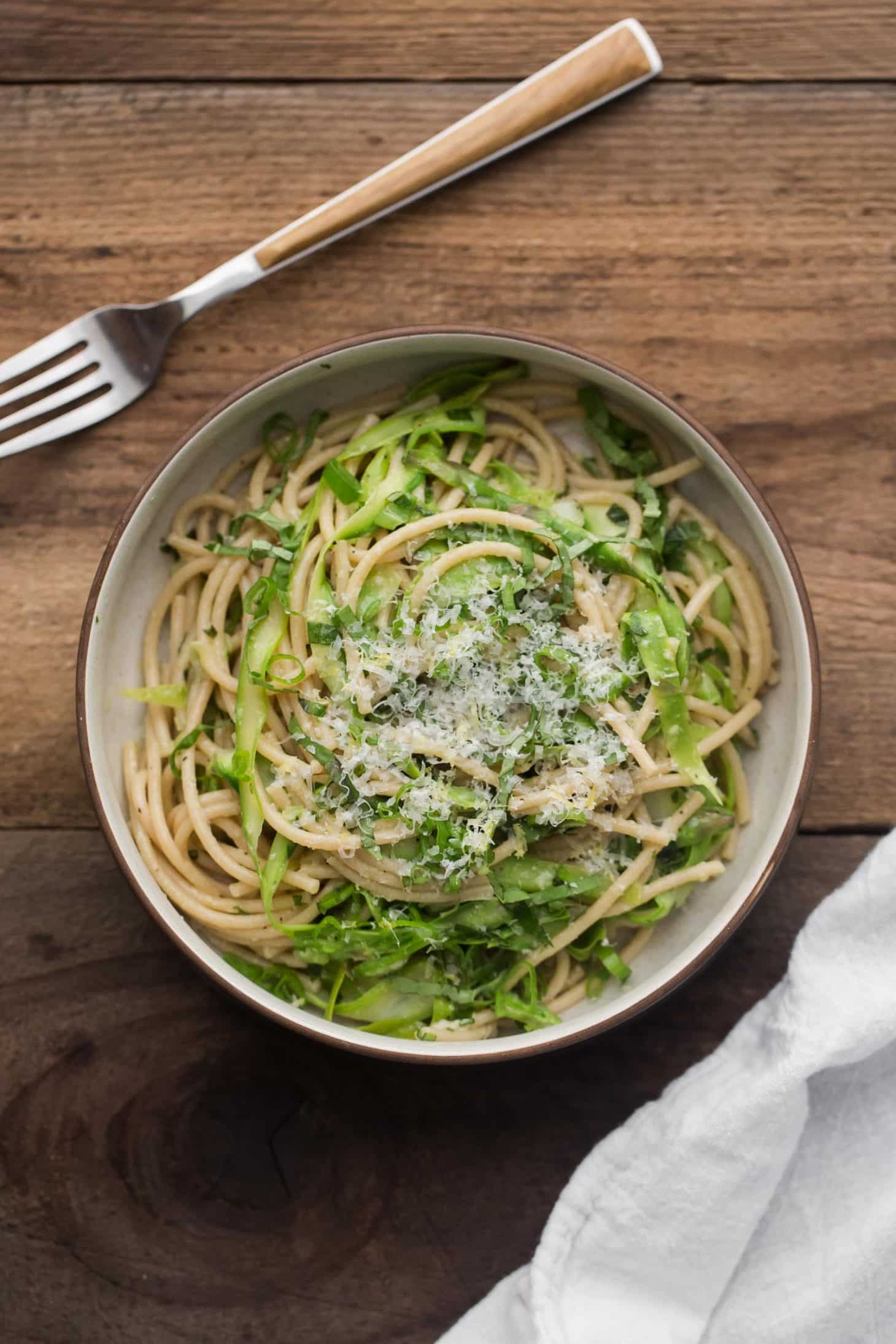 Easy Spring Pasta with Shaved Asparagus