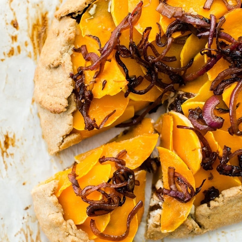 Butternut Squash Galette with Ricotta and Balsamic Onions