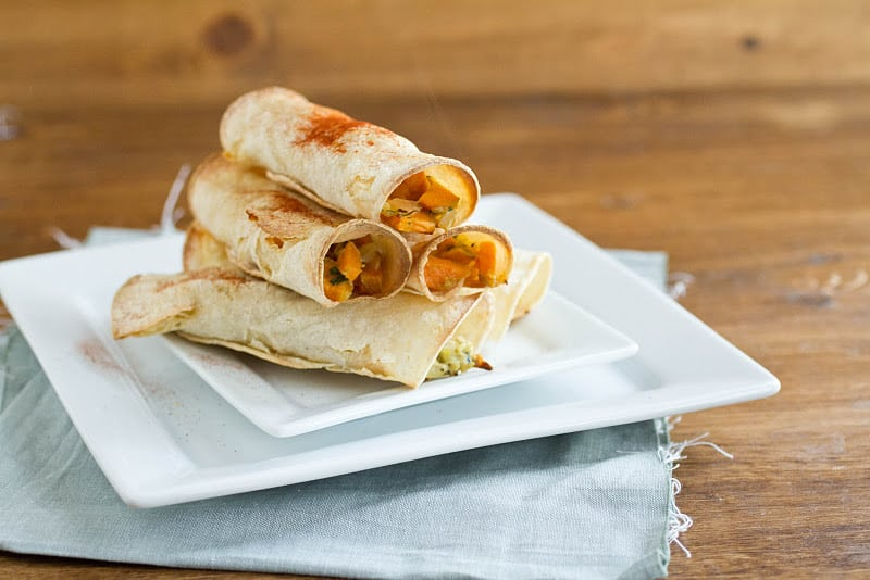 Sweet Potato Breakfast Taquitos | Naturally Ella
