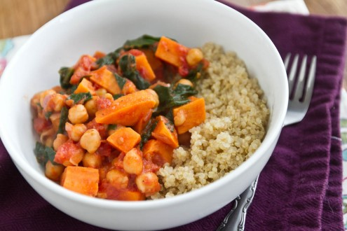Sweet Potato and Chickpea Stew with Quinoa | Naturally Ella