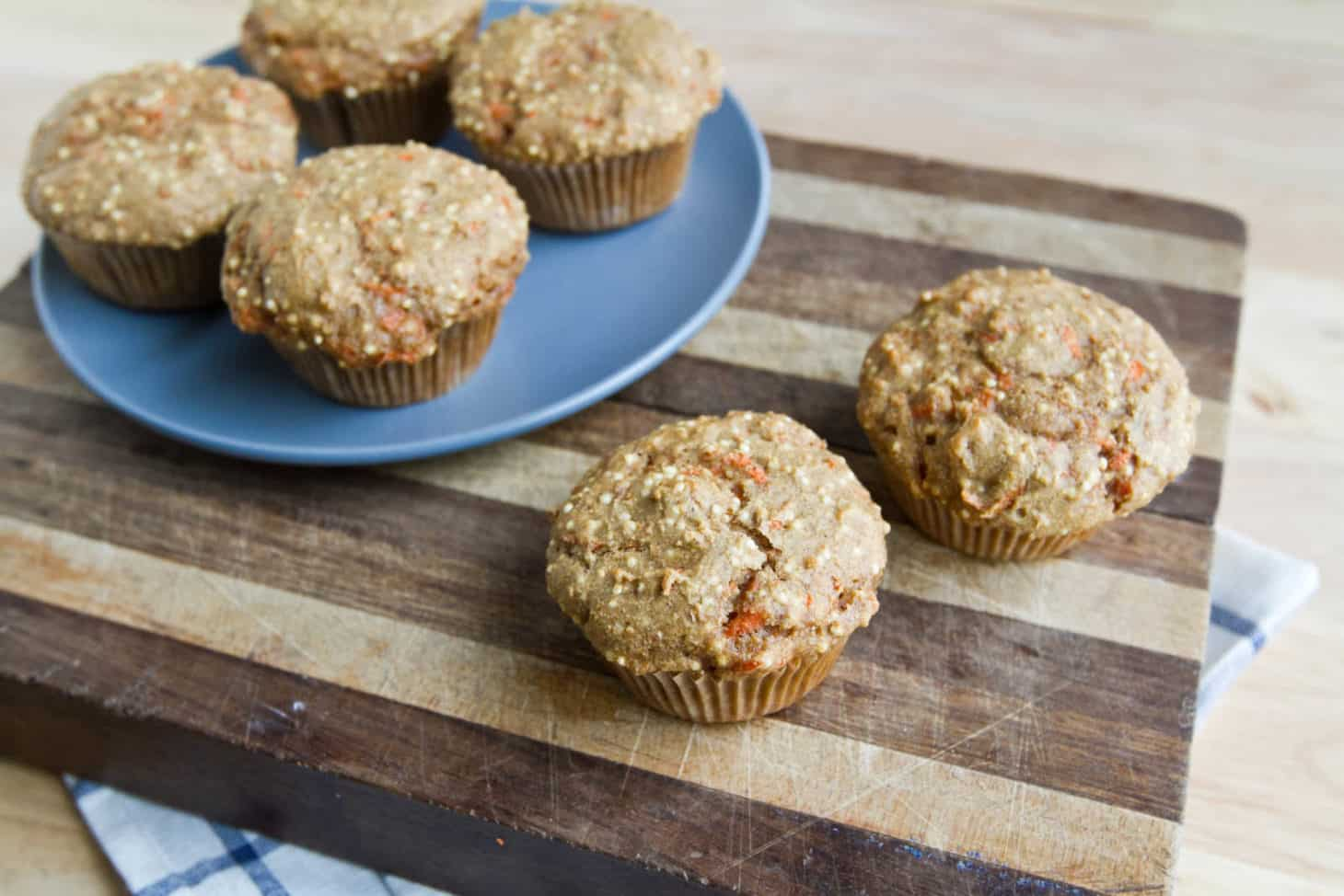 Spiced Carrot Millet Muffins | Naturally Ella
