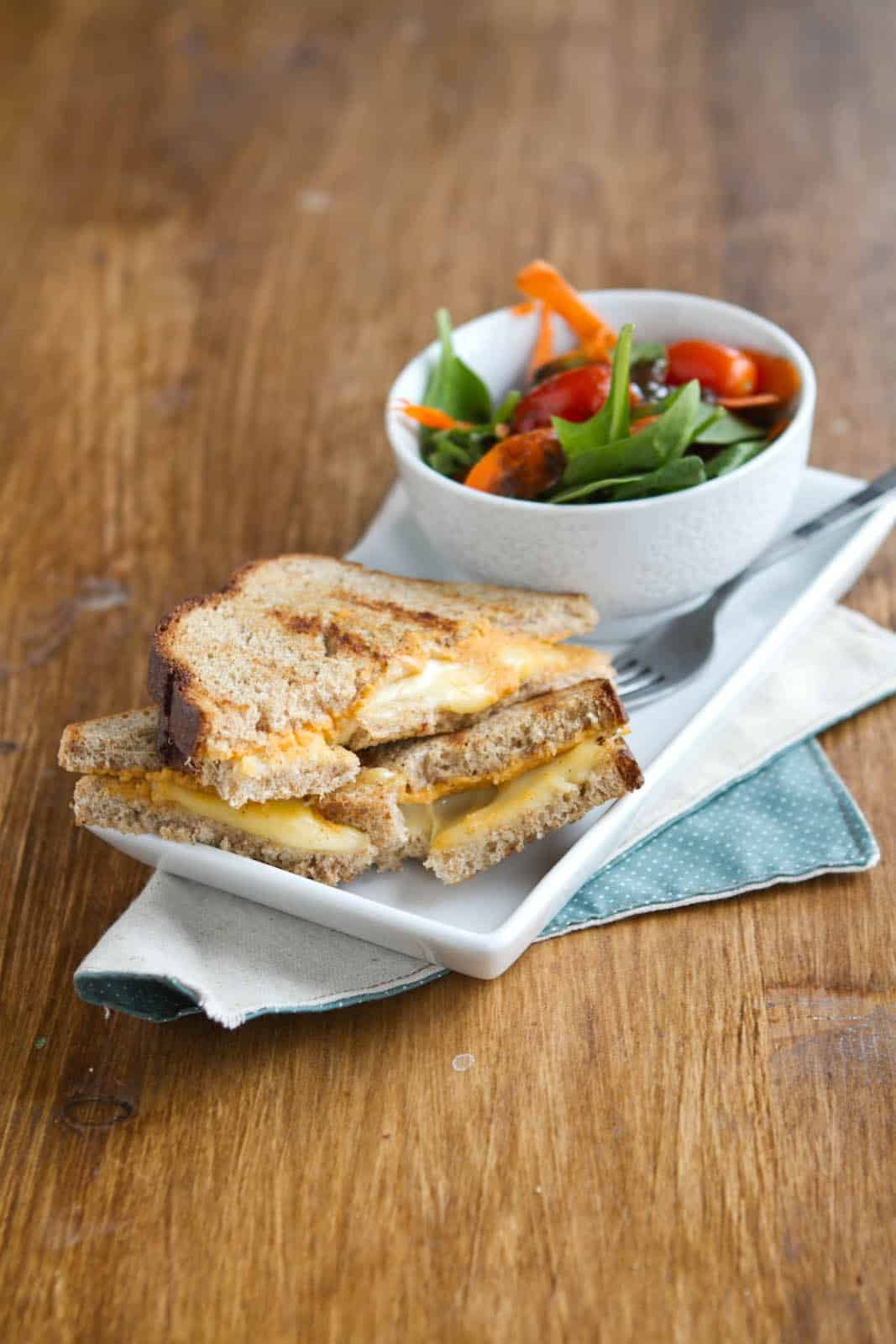Sweet Potato Hummus Grilled Cheese Sandwich