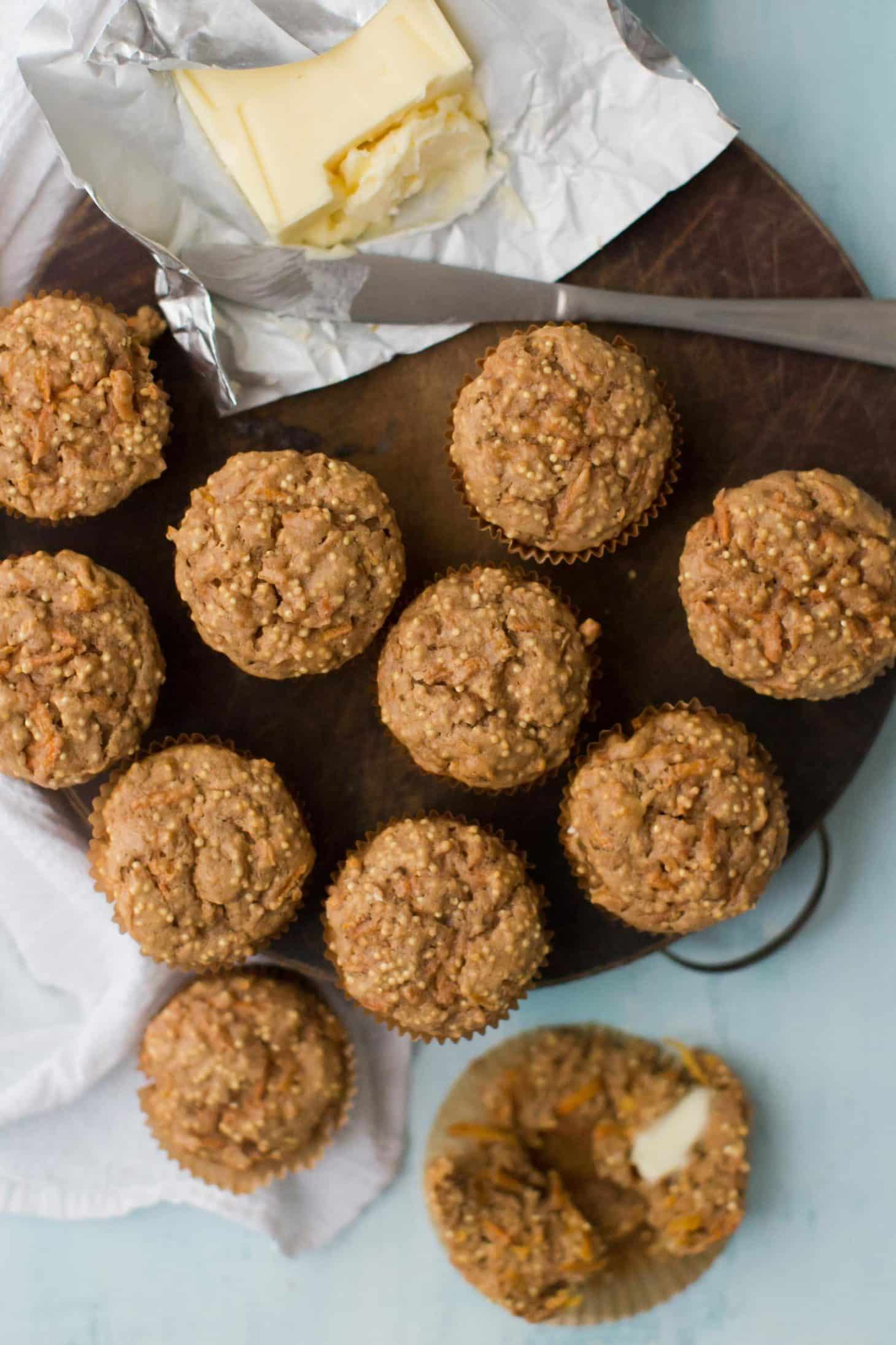 Carrot Muffins with Millet
