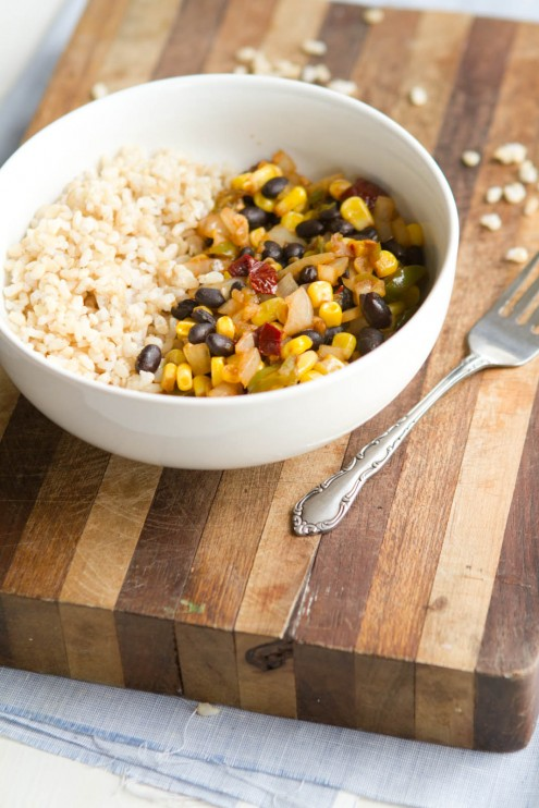 Chipotle Black Bean, Corn, and Rice Bowl | Naturally Ella