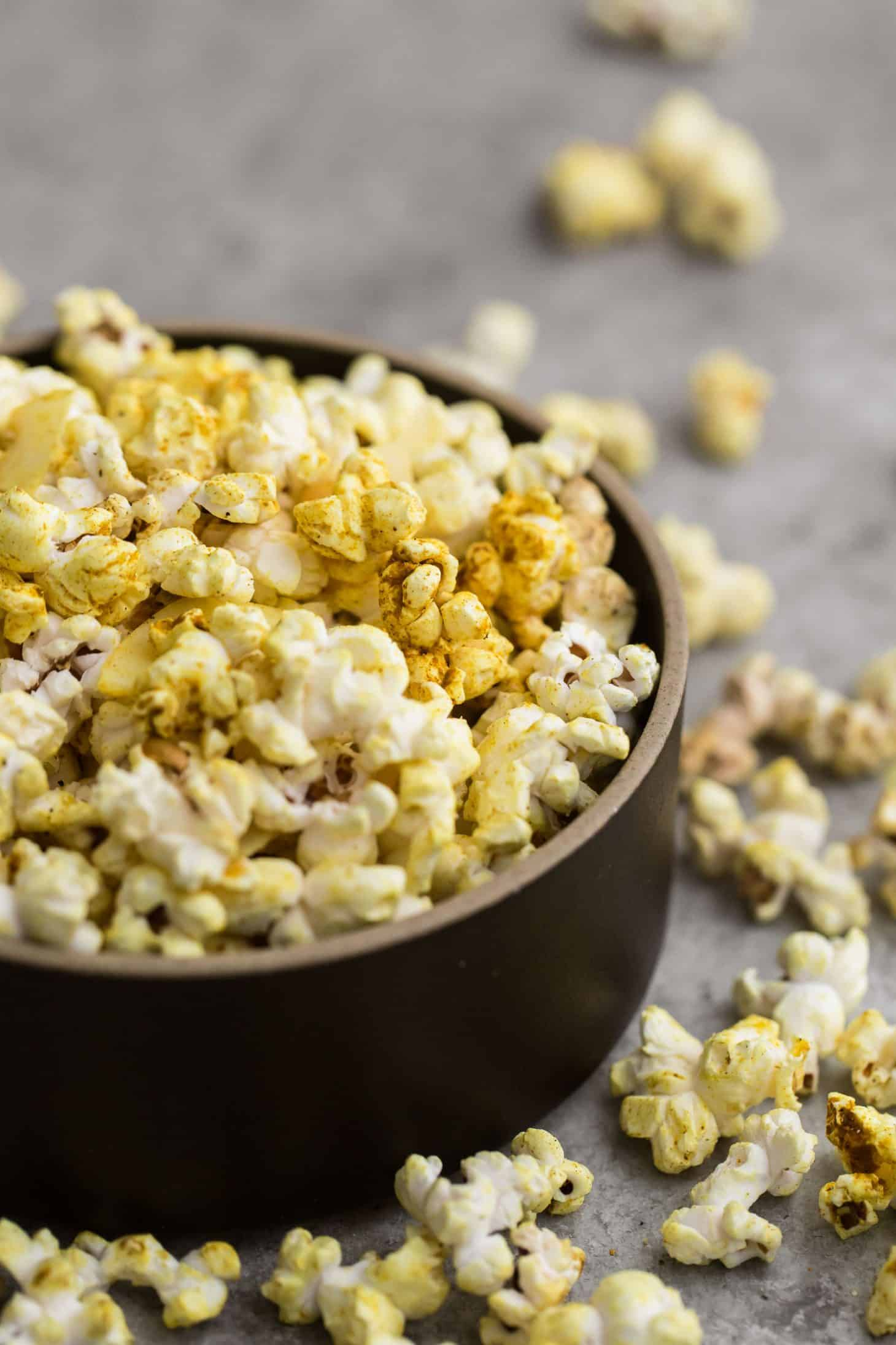 Vegan Curry Popcorn with Coconut | Naturally Ella