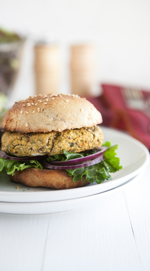 Chickpea and Spinach Veggie Burger