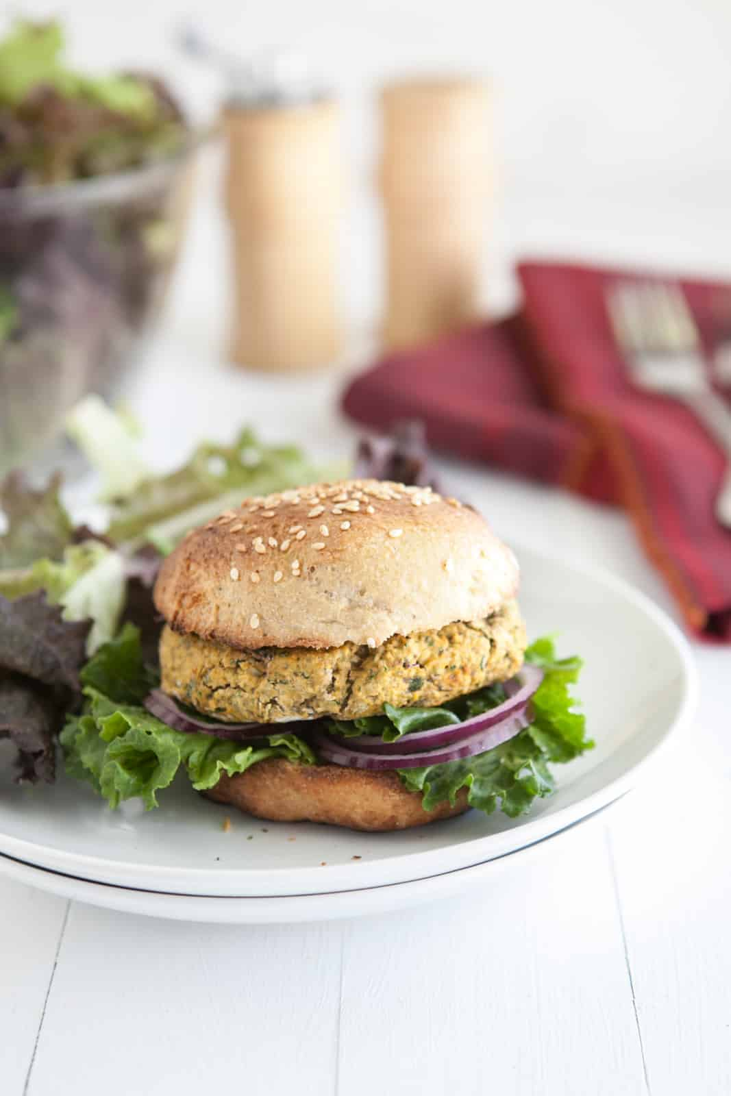Chickpea and Spinach {Veggie} Burgers | Naturally Ella