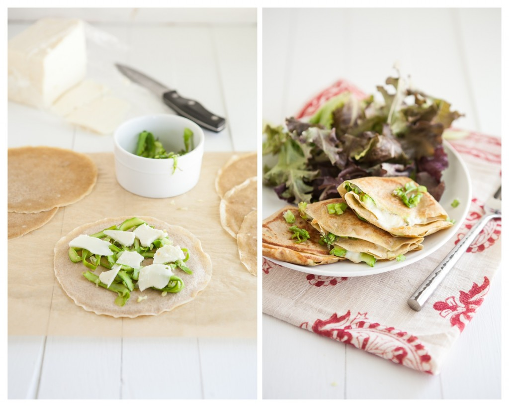 Grilled Cheese Crepes with Shaved Asparagus: Asparagus Recipe