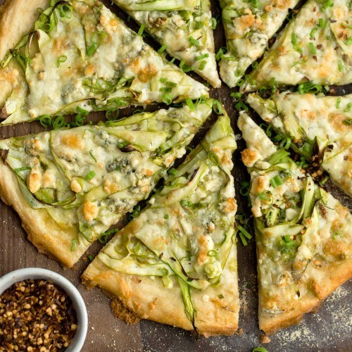 Shaved Asparagus Pizza with Gorgonzola
