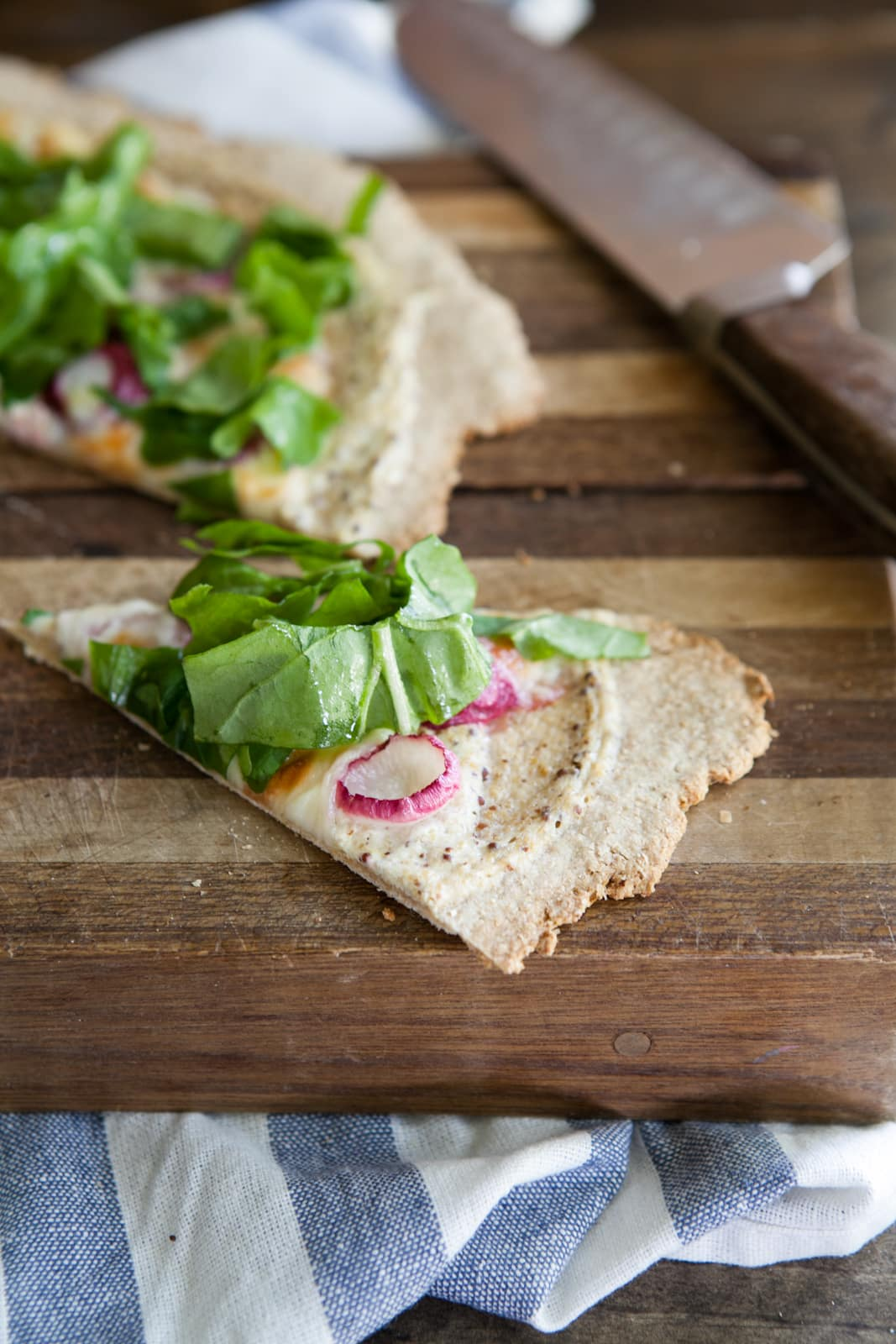 Roasted Radish and Ricotta Pizza on Cracker Crust: Spring Recipe
