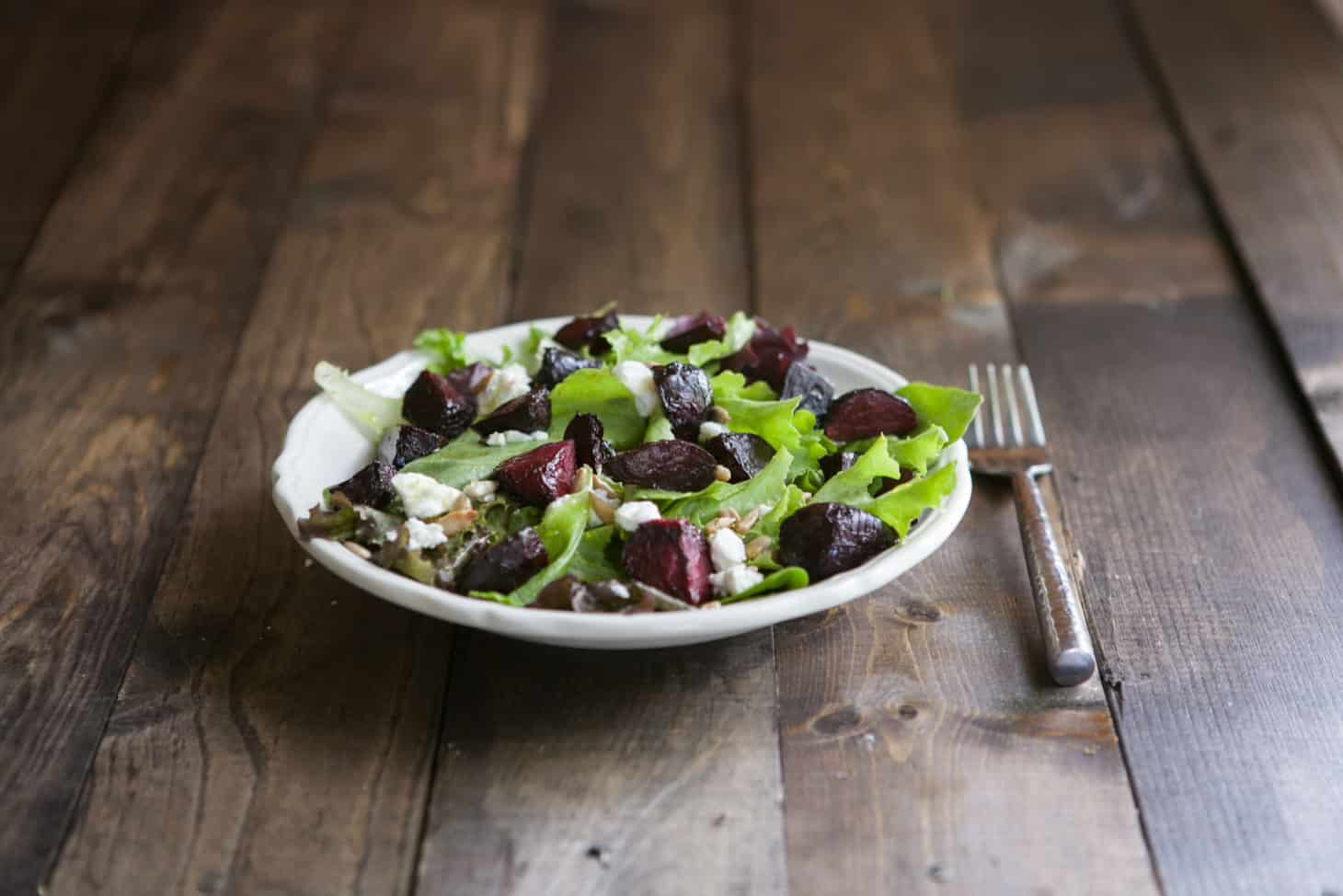 Maple Roasted Beet and Goat Cheese Salad: Spring Beet Recipe