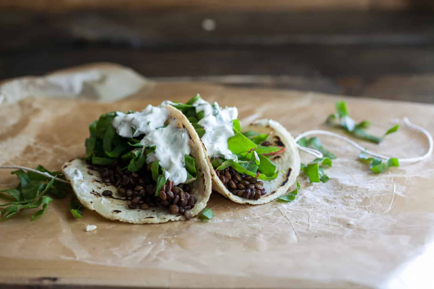 Lentil and Swiss Chard Tacos (with Homemade Tortillas)
