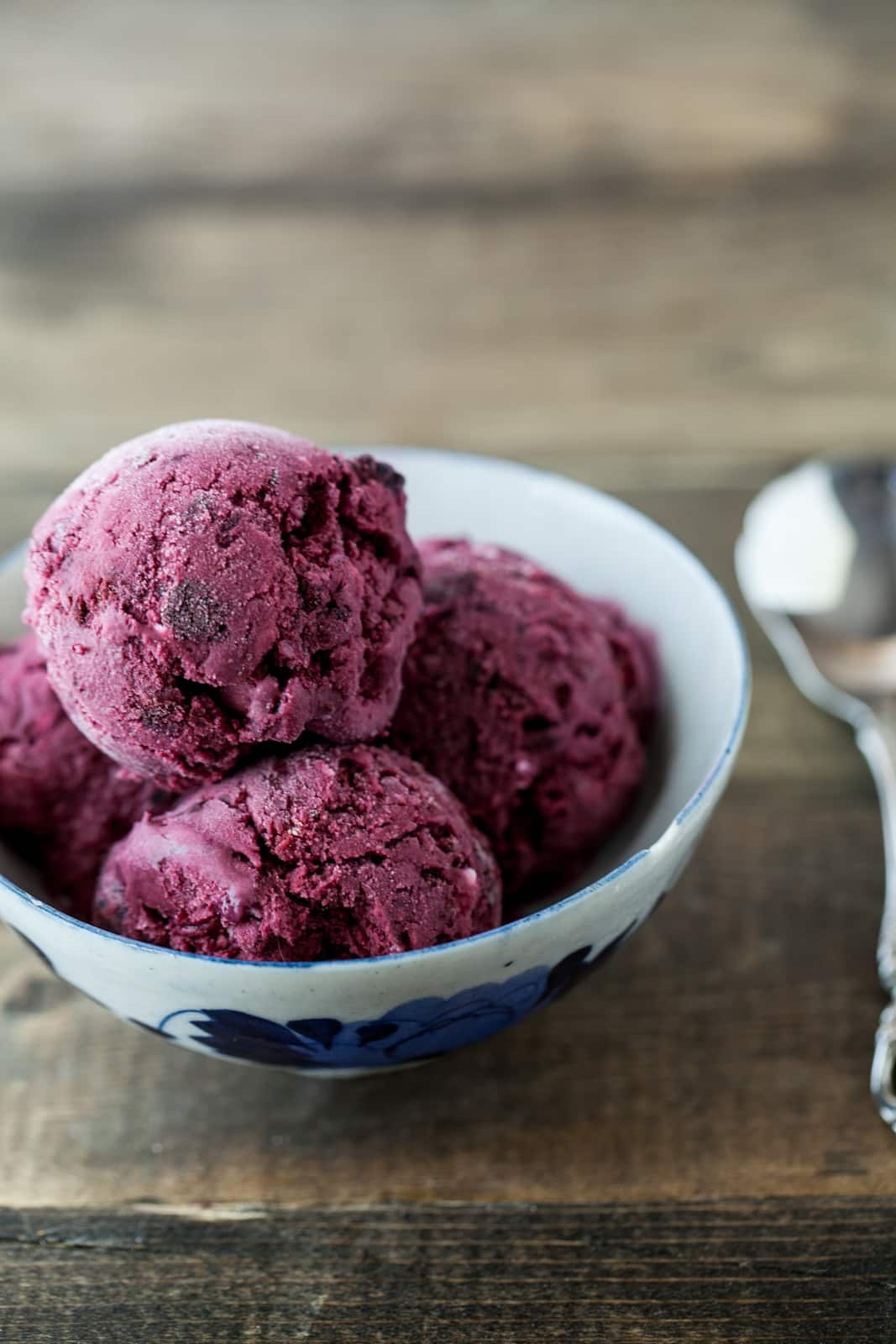 Black Raspberry and Vanilla Bean Ice Cream