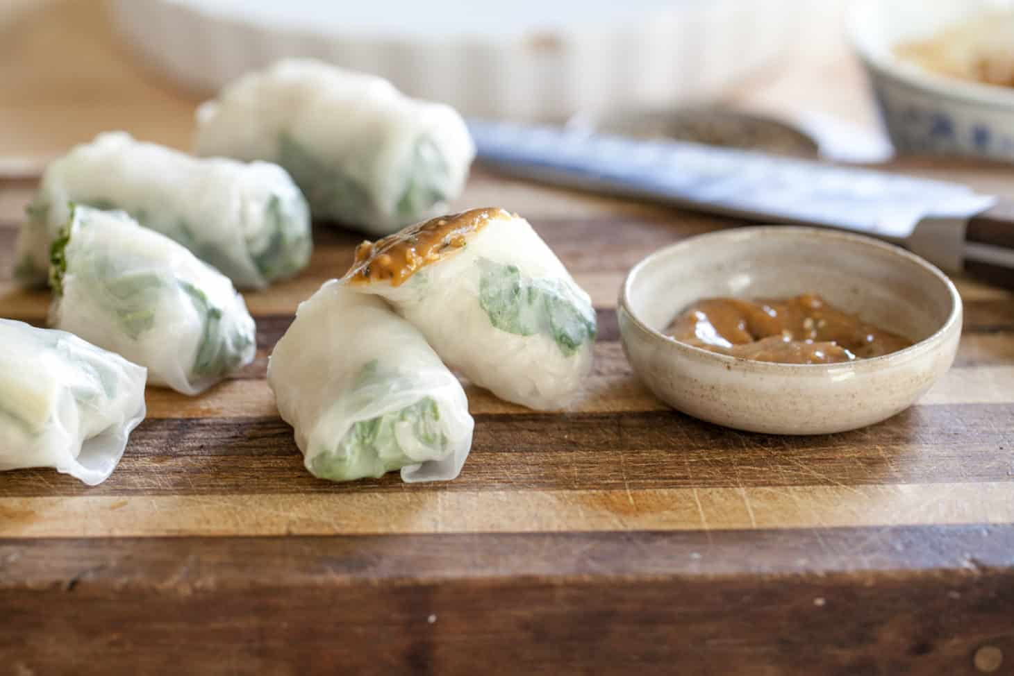 Roasted Radish and Kale Spring Rolls with Tahini-Honey ...