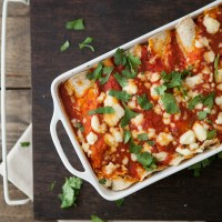 Roasted Corn and Ricotta Enchiladas | http://naturallyella.com