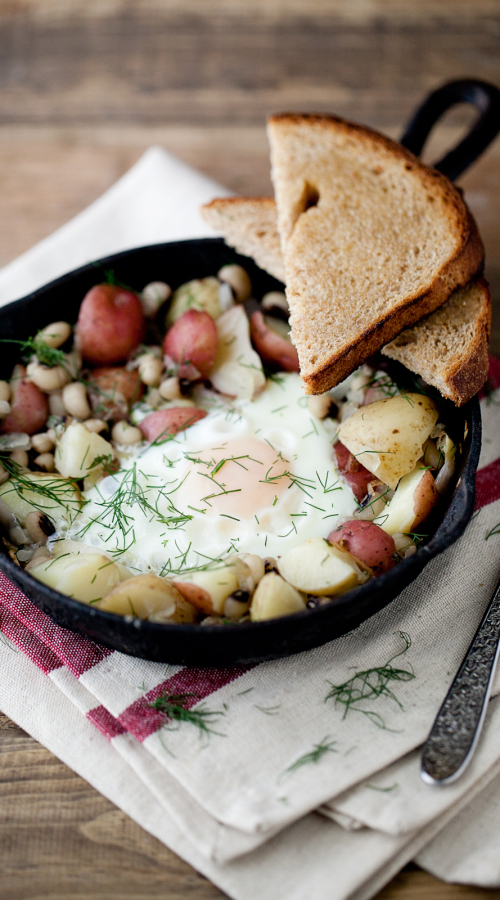 Black Eyed Pea and Potato Skillet