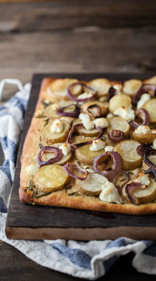 Roasted Potato, Rosemary, and Goat Cheese Pizza