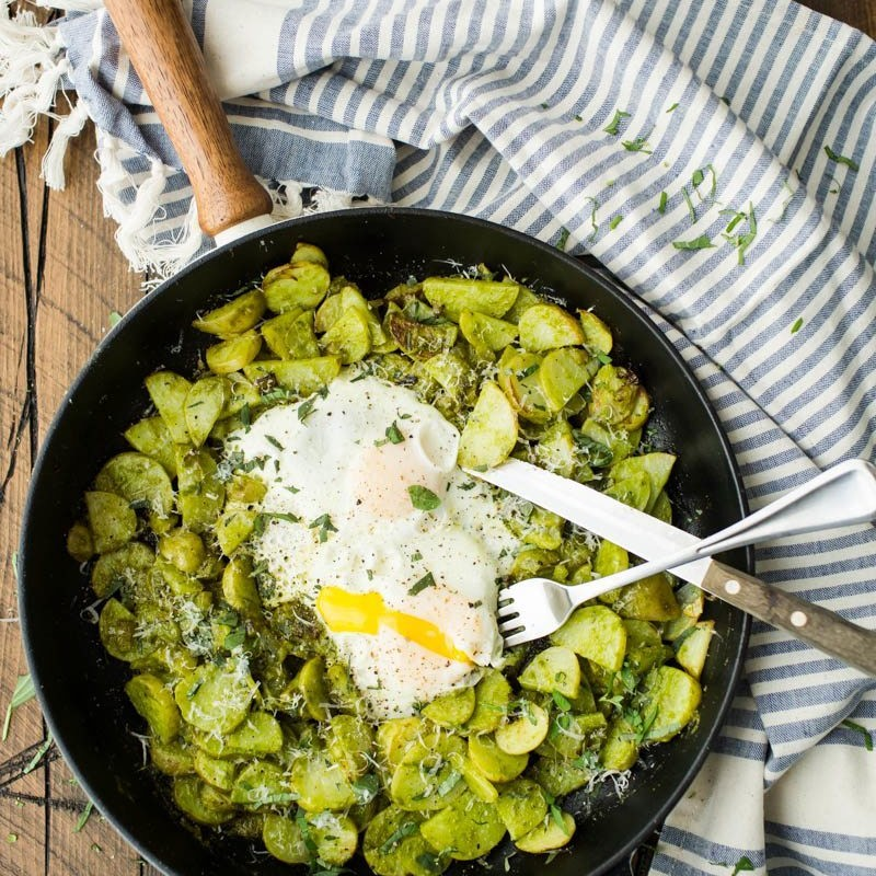 Potato Masala And Egg Skillet Recipe — Dishmaps