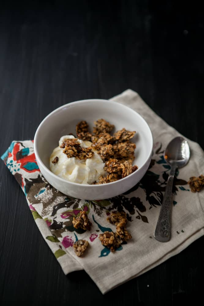 Roasted Banana-Nut Granola