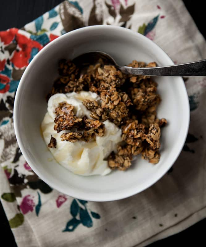 Roasted Banana Nut Granola | @naturallyella