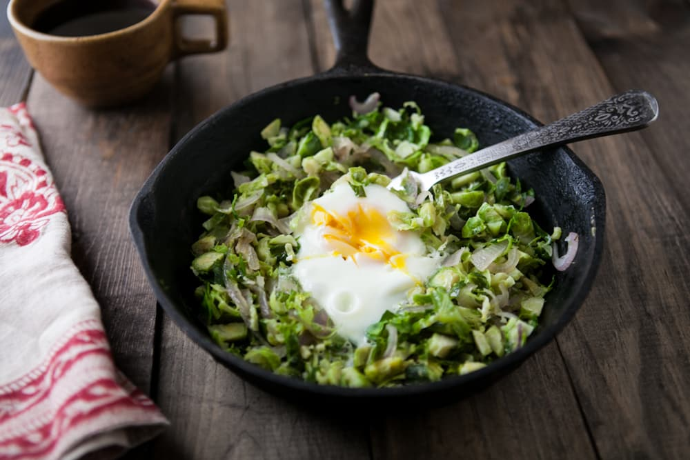 Brussels Sprouts and Egg Skillet