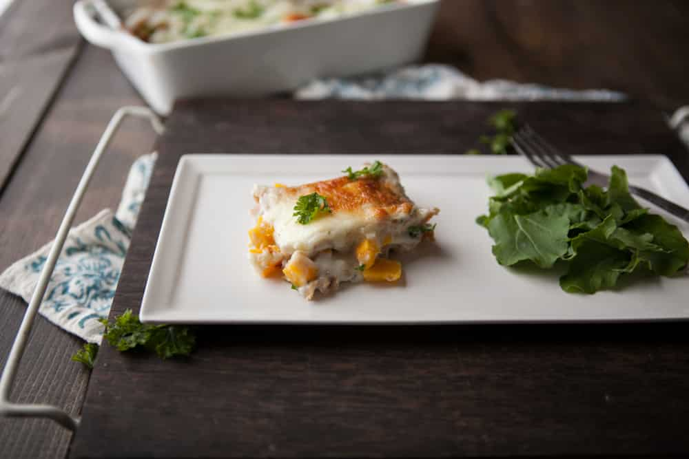 Roasted Pumpkin and Smoked Blue Cheese Lasagna