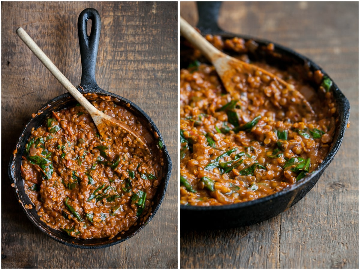 Red Lentils and Spinach in Masala Sauce