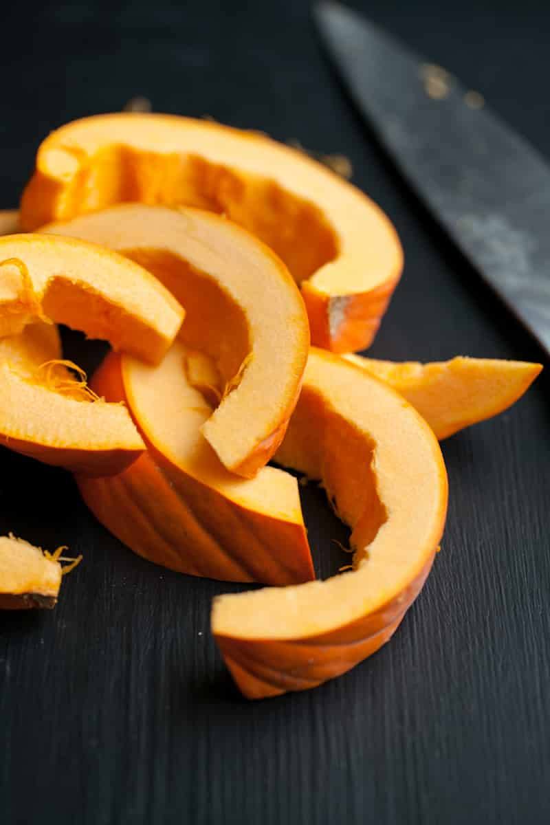 sliced pumpkin