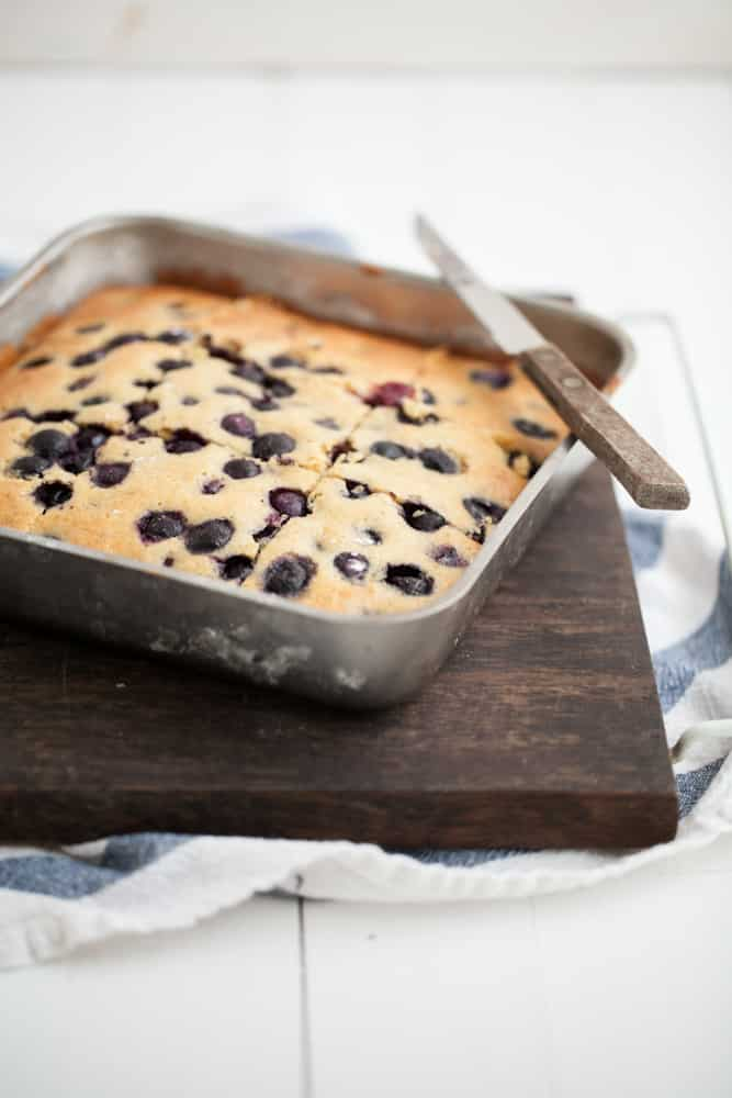 Blueberry Maple Corn Cake