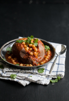 Spiced Chickpea Smothered Sweet Potato