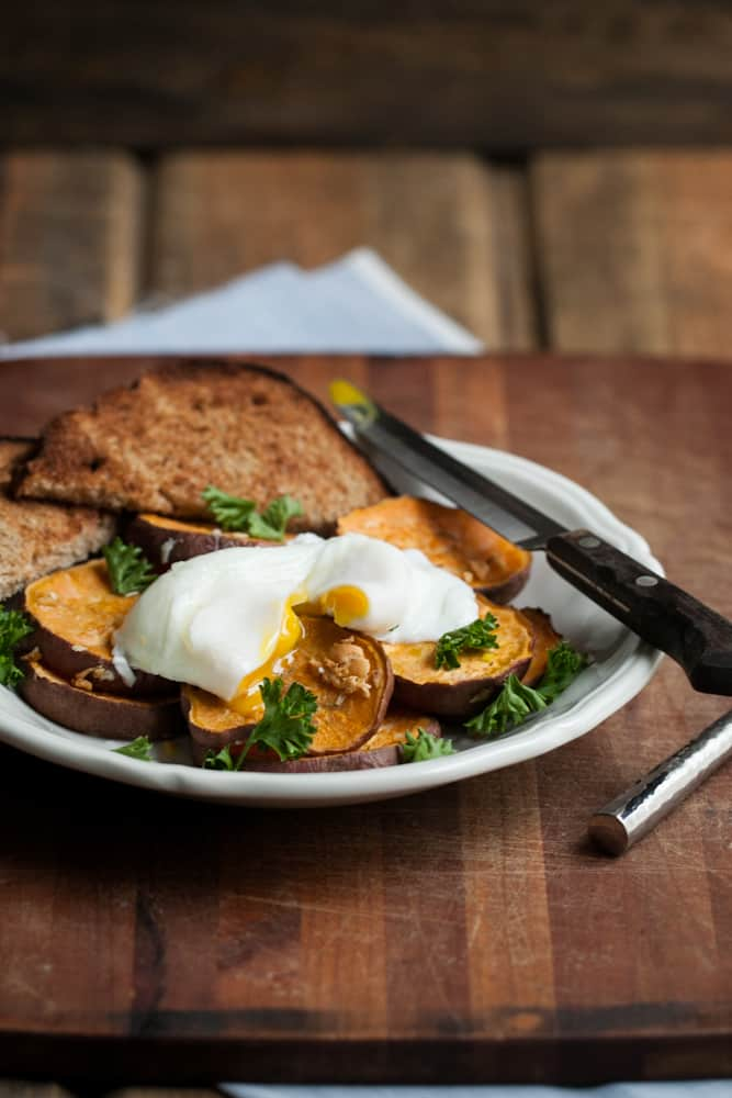 "16 Responses to ""Roasted Garlic Sweet Potatoes with a Poached Egg"""