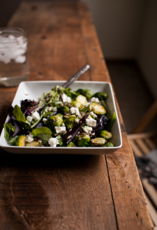 Roasted Brussels Sprout & Lentil Salad