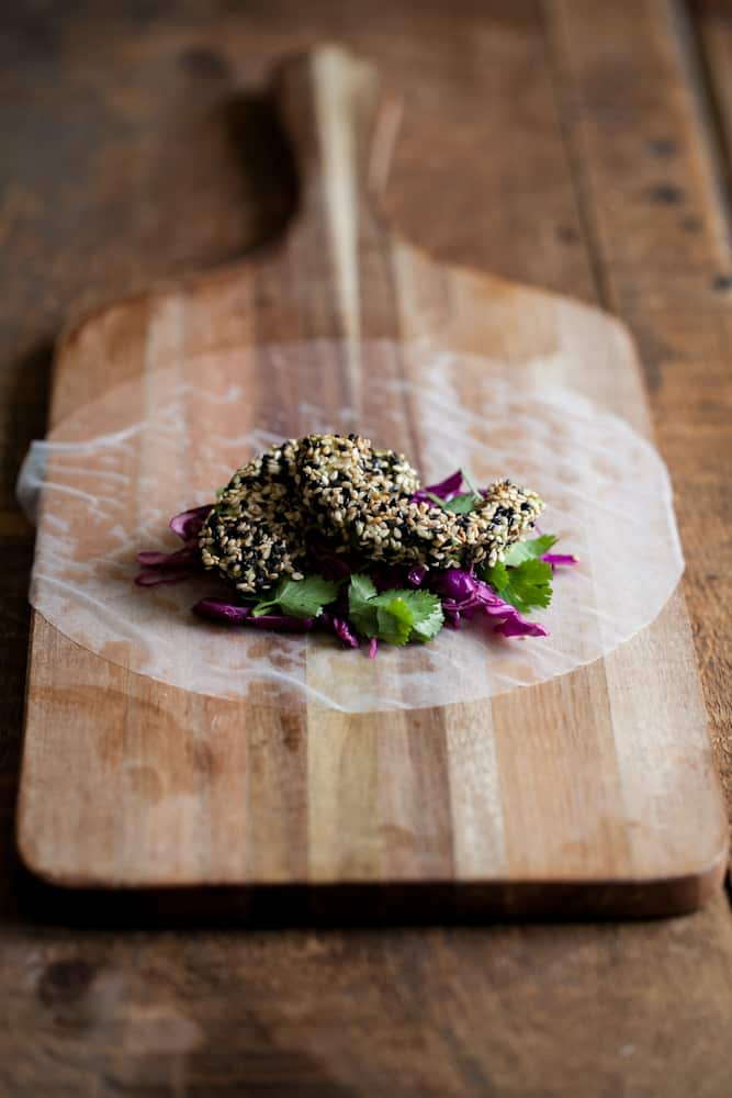 sesame crusted banana fritters with coconut kaya jam sesame crusted ...
