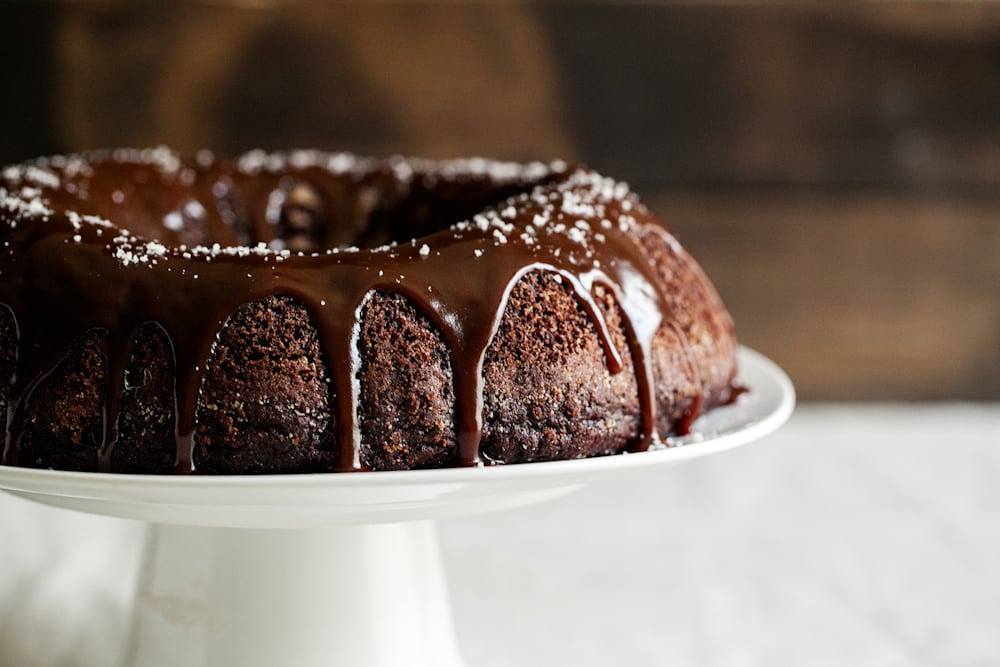 Chocolate Bundt Cake with Salted Caramel