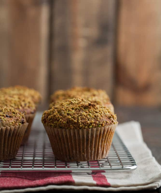 Pistachio and Chocolate Chip Muffins