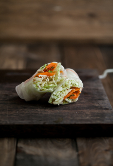 Sesame Crusted Avocado And Cabbage Spring Rolls Recipes — Dishmaps