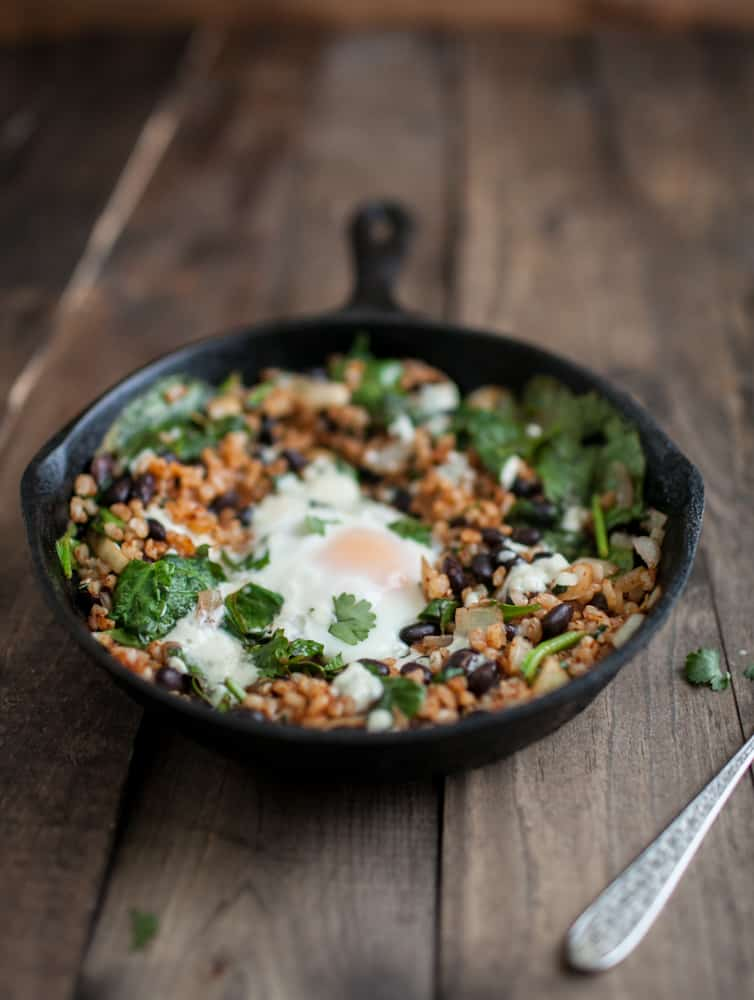 Chipotle Black Bean Skillet | @naturallyella