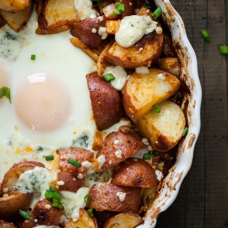 Smoked Paprika Red Potatoes and Egg Bake