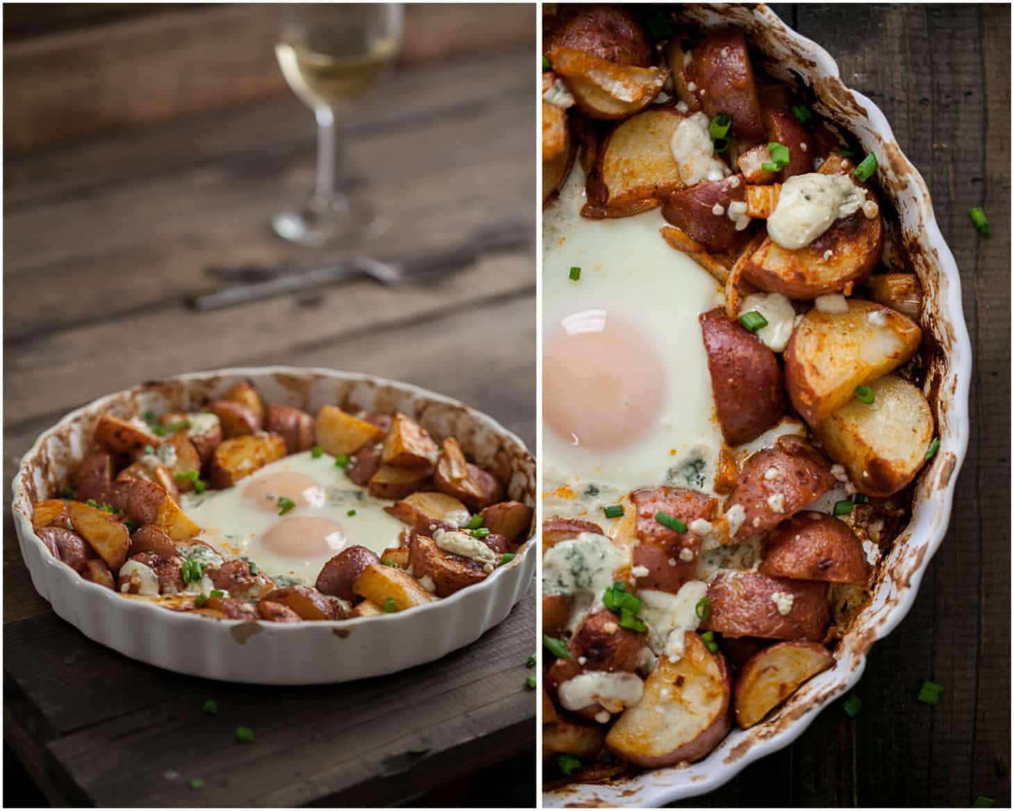 Smoked Paprika Red Potatoes and Egg Bake | @naturallyella