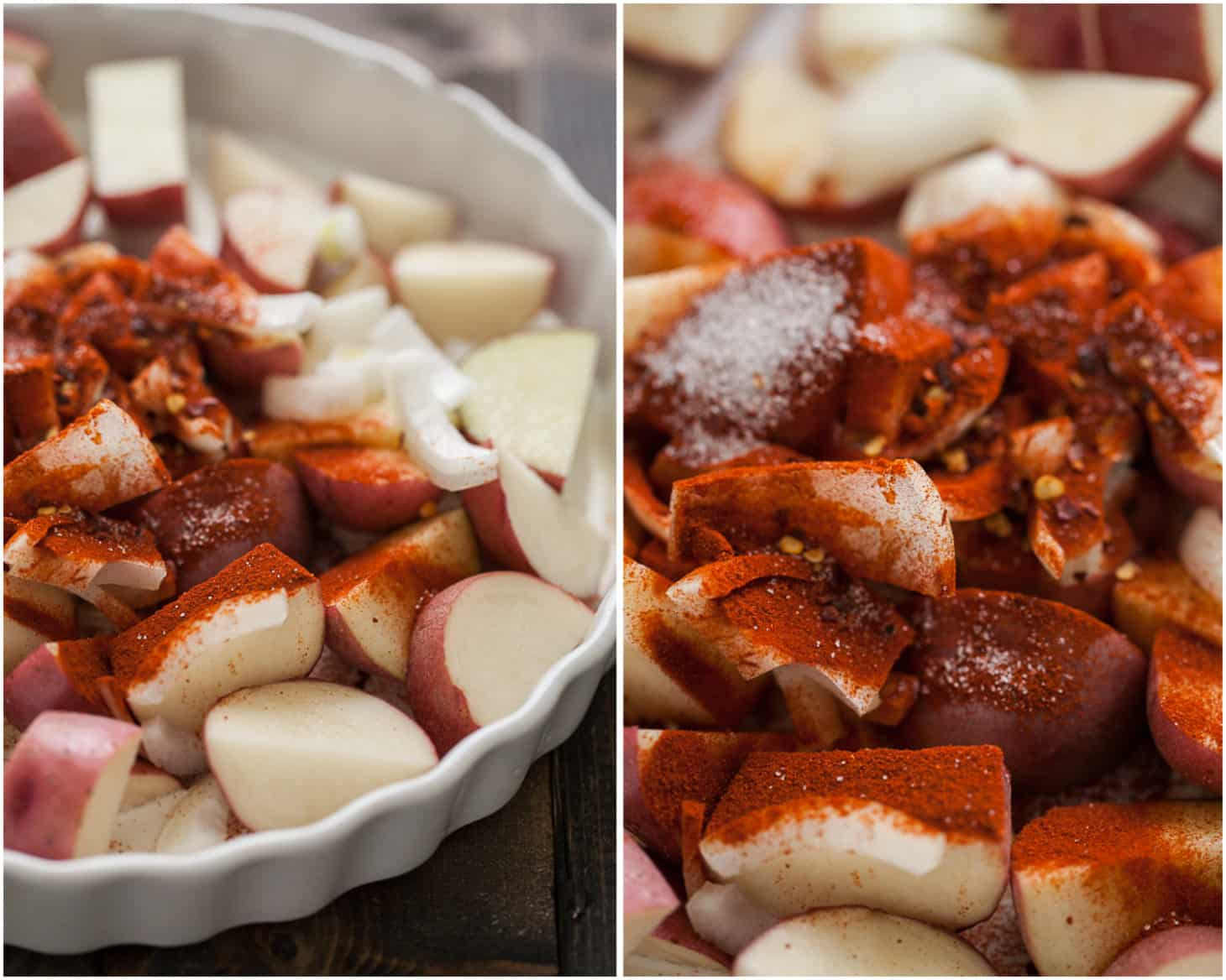 Smoked Paprika Red Potatoes Egg Bake | @naturallyella