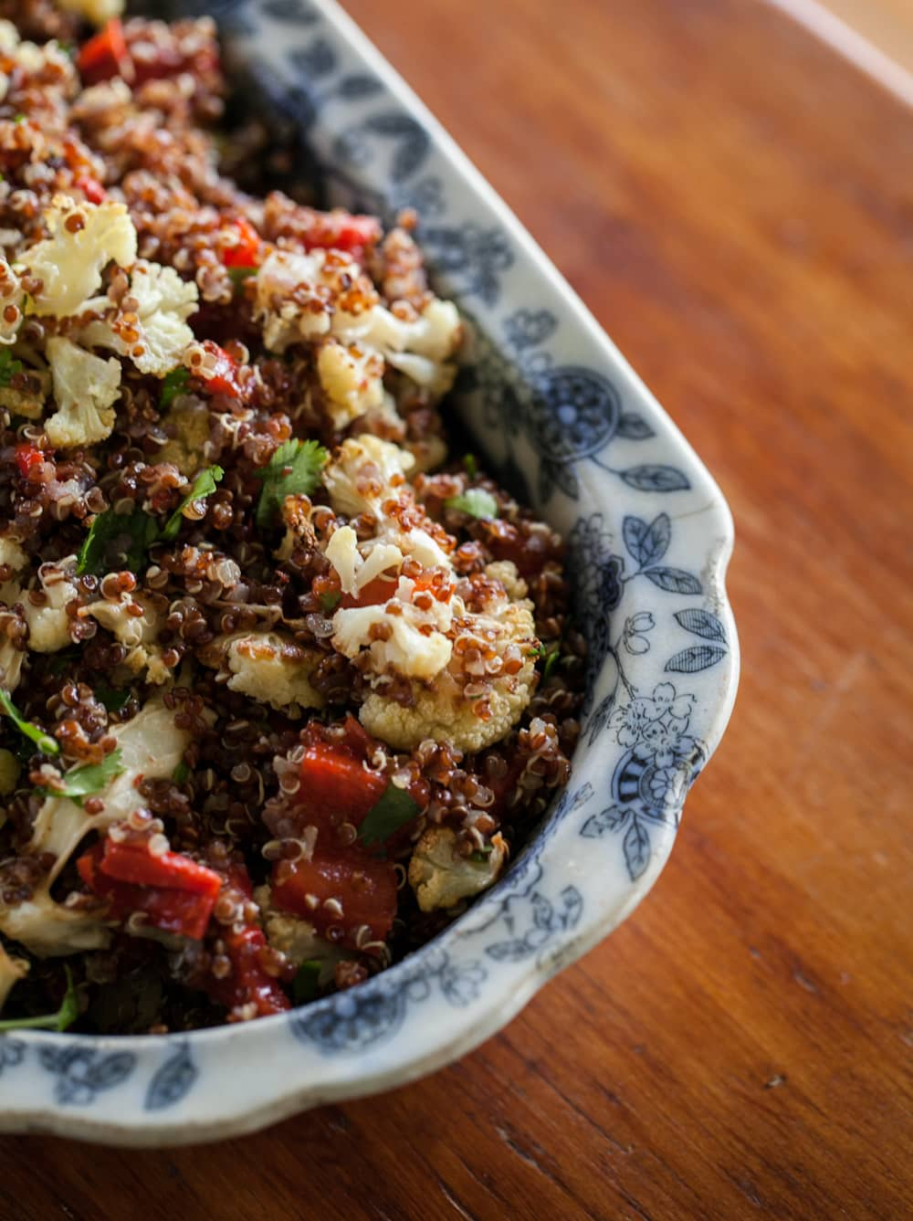 ... red and red pepper farro salad roasted red pepper roasted cauliflower