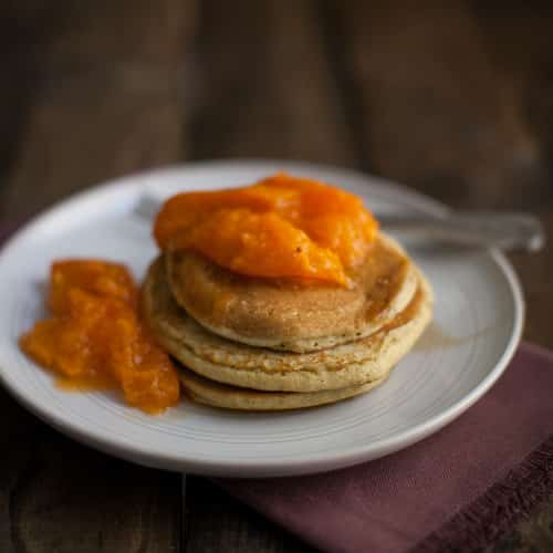 Barley Pancakes with Apricots